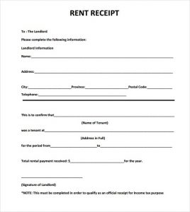 rental receipt pdf rent receipt