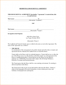 rental receipt pdf rental house lease agreement