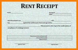 rental receipt template rent receipt sample format word format of rental receipt template free download
