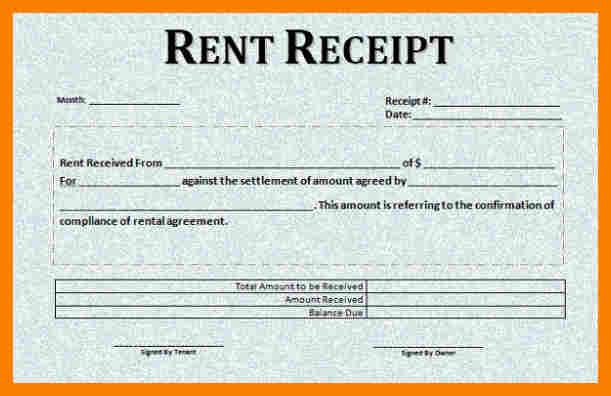 Rental receipt template template business rental receipt template saigontimesfo