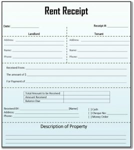 Rental Receipts Template Word House Rent Receipt Template  House Rental Receipt Template