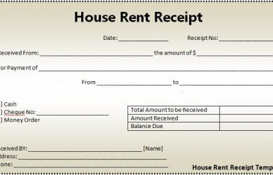 rental receipts template word house rent receipt template