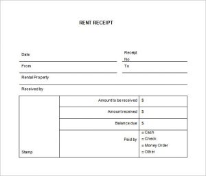 rental receipts template word rental receipt template word free download