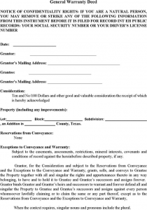 rental reference form texas general warranty deed