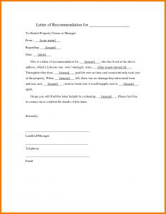 rental reference letters rental reference letter sample