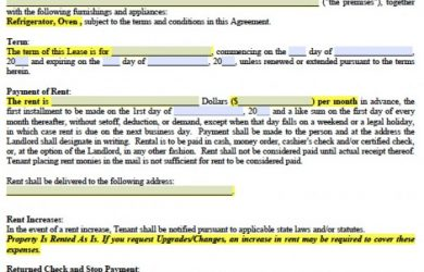 renters application form pdf north carolina standard residential lease agreement x