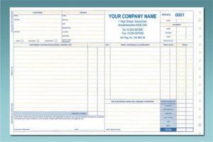 repair order template sro
