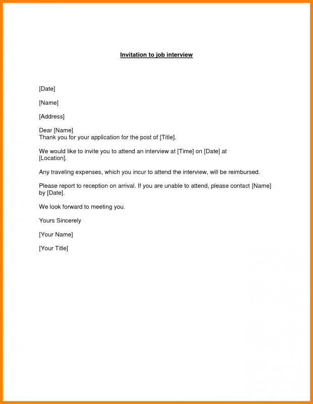 Reply To Interview Invitation Email Sample  Template Business
