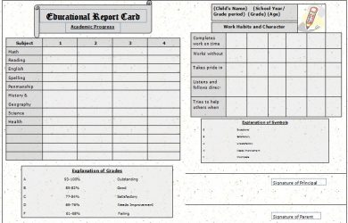 report card template the report card www.templatesample.net