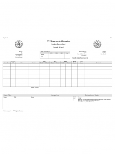 report card templates student report card nyc department of education d