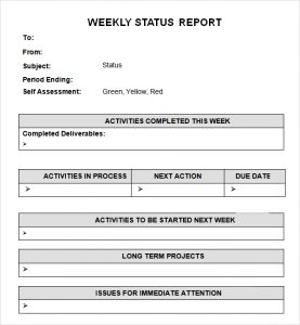 report card templates weekly status report template aejack
