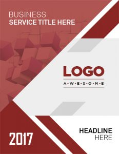 report cover page template business