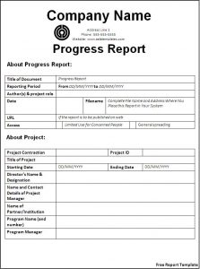 report template word free report template