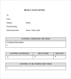 report template word weekly status report template word