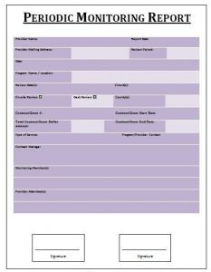 reports templates word periodic monitoring report template