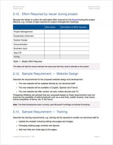 request for proposal template request for proposal template apple iwork pages effort