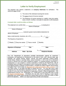 request for verification of employment employment verification form template