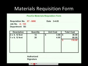 requisition form template costing system job costing