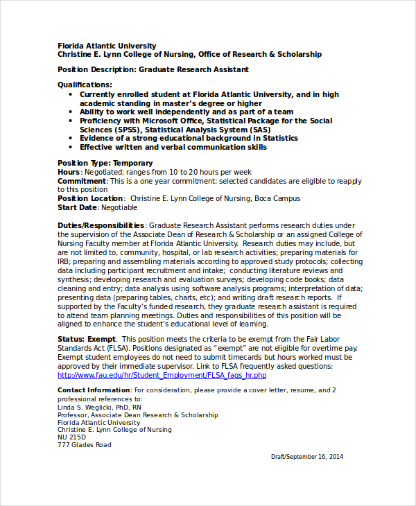 Clinical Research Nurse Resume Sample: Research Assistant Resume