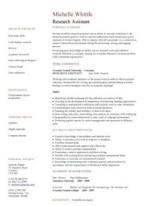 research assistant resume pic research assistant cv template