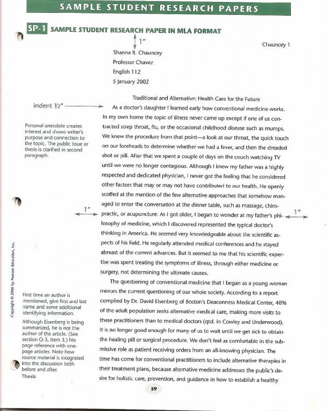 research paper sample