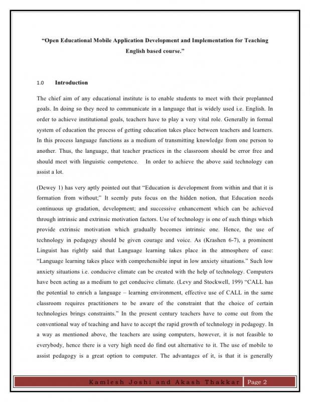 research paper sample