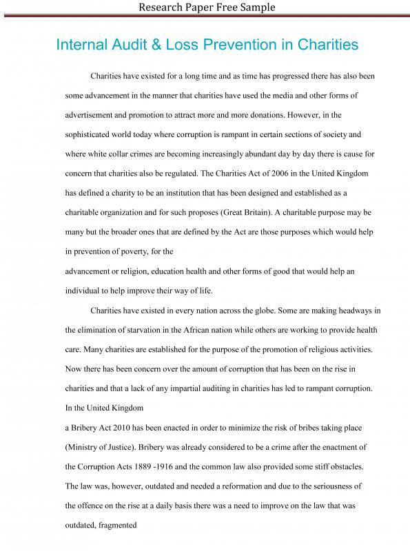 Research Paper Sample  Template Business
