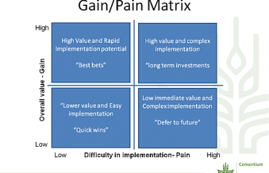 research report example gain pain matrix cgiar dkm workshop