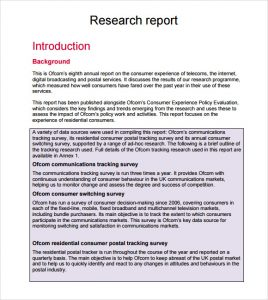 research report format free research report