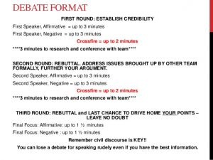 research report formats huckabee debate notes and format w rubric