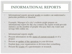 research report formats report writingtypes format structure and relevance