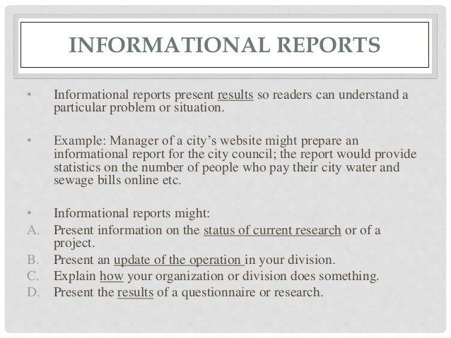 research report formats