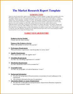 research report template market research report template