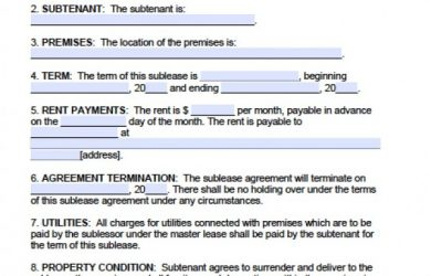 residental rental application massachusetts agreement to sublet x
