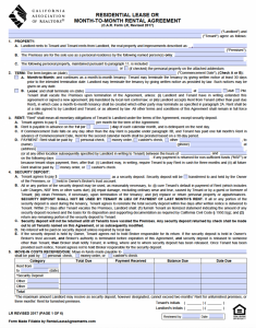 residential lease agreement pdf california association of realtors residential lease agreement x