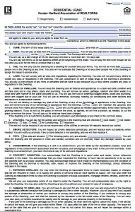 residential lease agreement pdf connecticut residential lease agreement