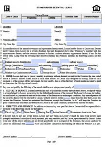 residential lease agreement pdf illinois realtor residential lease agreement x