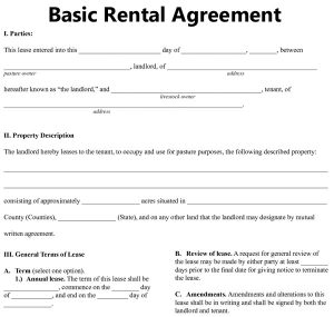 residential lease agreement template bais rental agreement