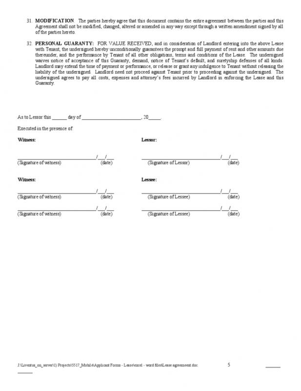 residential lease application