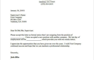 resign email template email resignation letter to supervisor example pdf free download