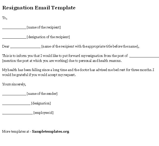 resign email template
