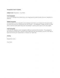 resign email template template resignation email