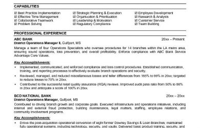 resign letter template banking executive manager resume template