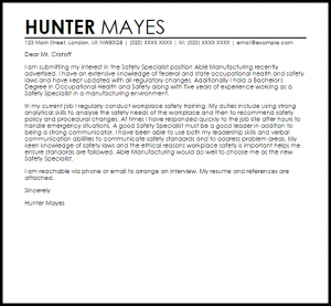 resignation email templates safety specialist