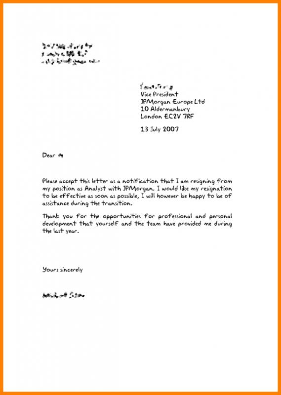 Resignation letter template free template business resignation letter template free altavistaventures Choice Image