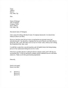 resignation letter template free genuine new job resignation letter pleasure working for insert company name and i will miss my associations