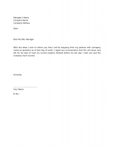 Resignation Letter Template | Template Business
