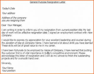resignation letter template word what to put in a resignation letter resignation letter