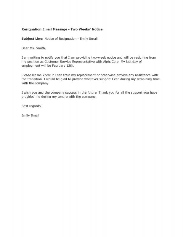Nice Resignation Letter Templates Free  Free Sample Resignation Letter Template