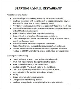 restaurant business plan sample restaurant sample business plan
